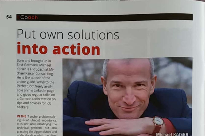 "Business Magazine article ""Put own solutions into action"""