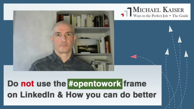 Don't use the LinkedIn photo frame #OpenToWork